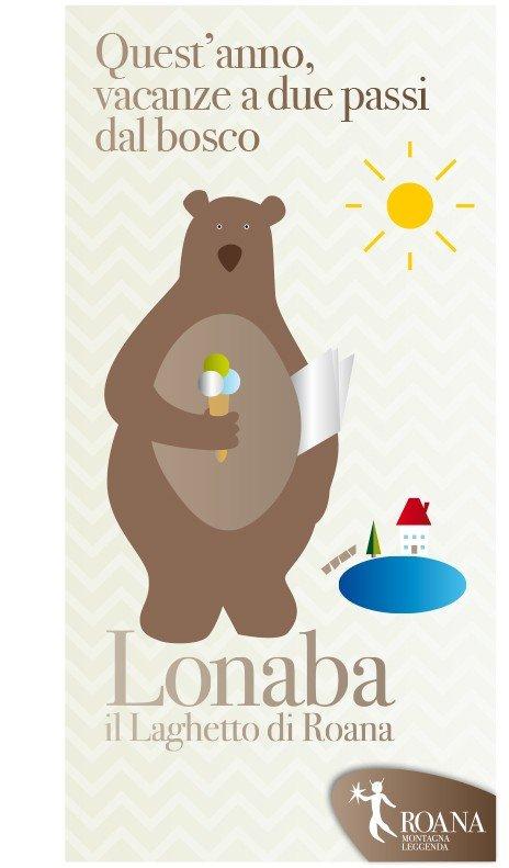 Comune di Roana, Altopiano dei 7 Comuni, progetto di identità visiva e grafica d'ambiente per la comunicazione dell'area turistica del laghetto Lonaba